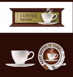 set of banner badge sticker with icon vector image vector image