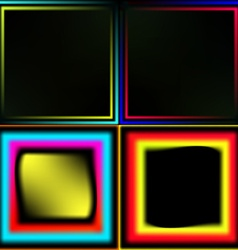 Set of neon frames vector image