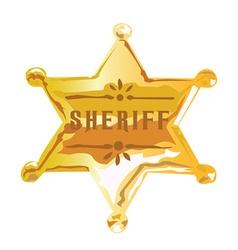 Sheriff vector image