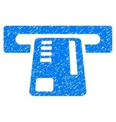 Ticket machine grainy texture icon vector
