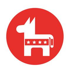 Usa donkey symbol icon vector