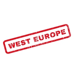 West europe rubber stamp vector