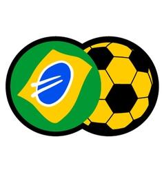 soccer Brazil symbol vector image