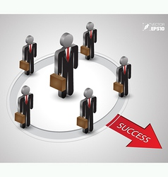 Business man group to success vector
