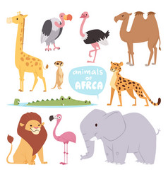 Africa animals large outdoor graphic travel desert vector