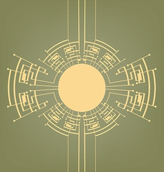 Retro art deco stylized background vector