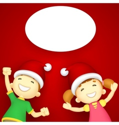 Kids enjoying christmas vector