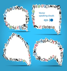 Talk bubbles of letters from newspaper vector