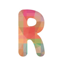 Colorful alphabet r vector
