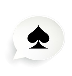Spades speech bubble vector