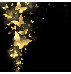 Fireworks of butterflies vector