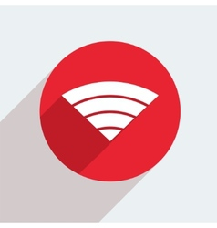 Mosern flat wifi circle icon vector