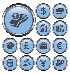 Finance buttons vector image