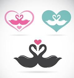 Swans loving vector