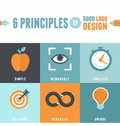 6 principles of good logo design vector