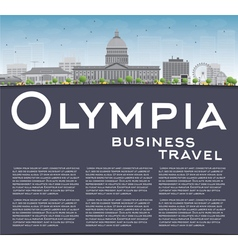 Olympia washington skyline vector