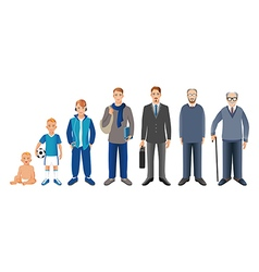 Man generation from infant to senior vector