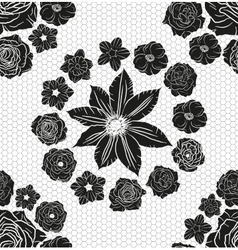 Hand drawn floral doodle background abstract vector