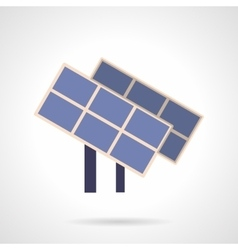 Saving energy flat color icon solar panels vector