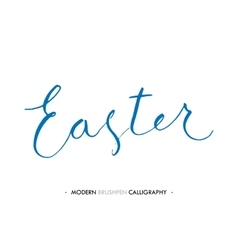 Happy easter lettering write with brush pen vector
