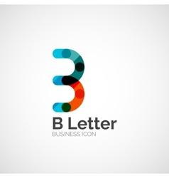 B letter logo minimal line design vector