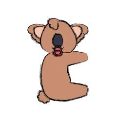 Baby koala cartoon animal faceless vector