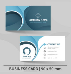 Blue creative business card template vector