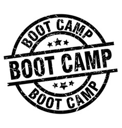 Boot camp round grunge black stamp vector