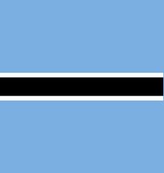 Botswana flat flag vector