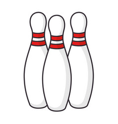bowling sport icon vector image vector image