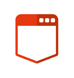 Browser web interface vector
