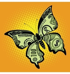 Butterfly dollar bill vector image