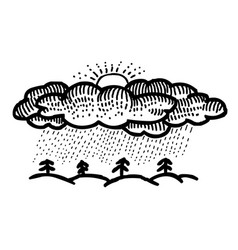 Cartoon image of rain icon rainfall symbol vector