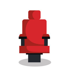 cinema chair isolated icon vector image vector image