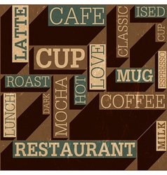coffee themed background seamless vector image vector image