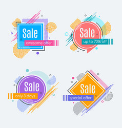 colorful abstract frames for sale styled banners vector image vector image