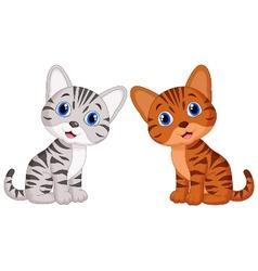 Cute baby cat cartoon vector image vector image