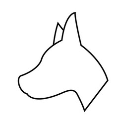 Dog shape icon vector