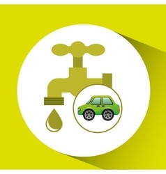 eco car icon environment water vector image