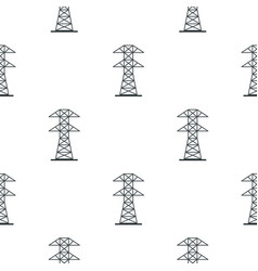 Electric power station pattern seamless vector