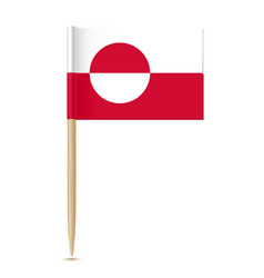 flag of greenland flag toothpick vector image vector image