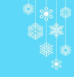 hanging snowflakes vector image vector image