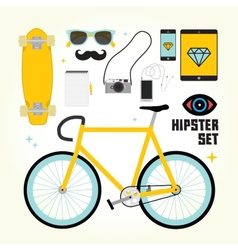 Hipster mast have objects vector