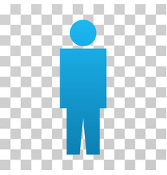 Human person gradient icon vector