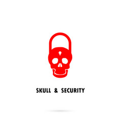 Human skull silhouettes and master key iconhuman vector
