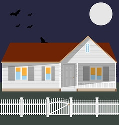 Night house vector image vector image