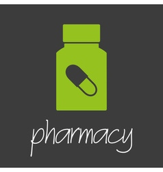 pharmacy pills design banner and background eps10 vector image vector image