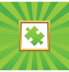 Puzzle picture icon vector image vector image