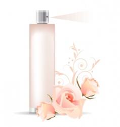 Rose perfume vector