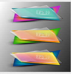 Set of colourfull transparent banners vector